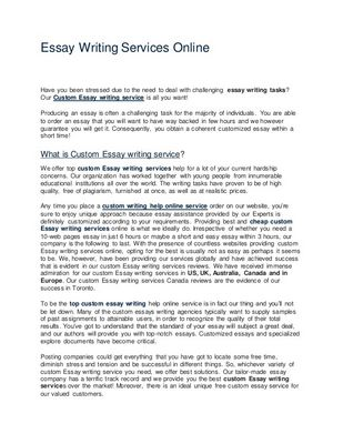 Contrast Essay Tips Details of Contrast Essay Don't create your... comprise as many paragraphs dependent